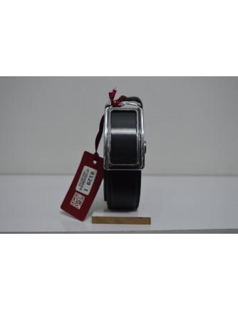 30mm Siyah Otomatik Sürgülü Erkek Deri Kemer