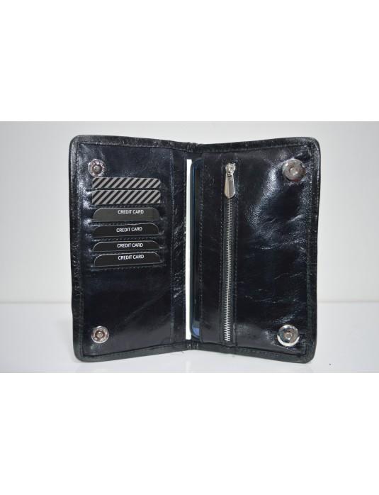 Siyah Telefon Bölmeli Cüzdan