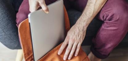 Hakiki deri erkek laptop çantası