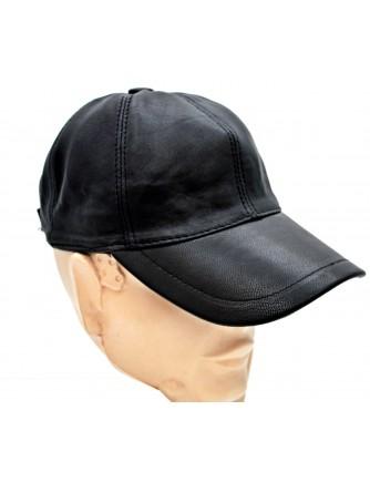 Comfort Hakiki Deri Siyah Beyzbol Şapka