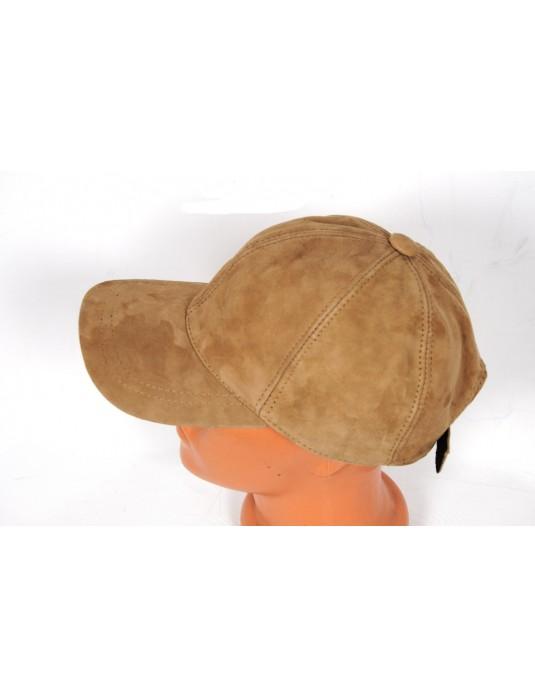 Comfort Hakiki Deri Süet Beyzbol Şapka