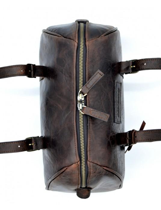 Deby Antik Kahverengi Hakiki Deri Mini Omuz Çantası